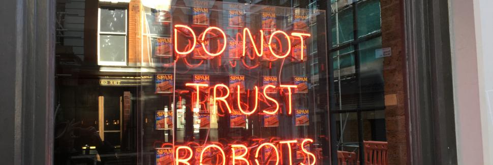 Do Not Trust Robots Image